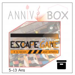 annivbox escape game anniversaire enfant cdanslaboxlocation boite toute prête